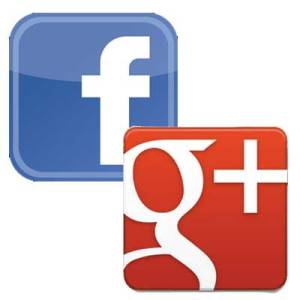 facebook-google-plus-logos