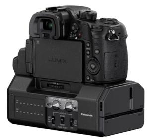 Mit einem zusätzlichen Interface kann man die Videoeigenschaften der GH4 voll ausreizen und unkomprimiertes Video oder Audio per XLR-Anschluss ausgeben.