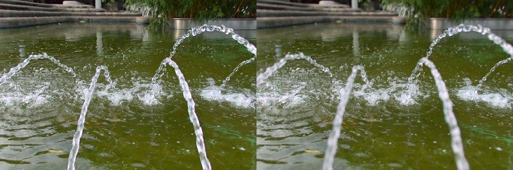 Keine zwei Bilder, sondern ein Bild - allerdings unterschiedlich eingestellt, nachdem es aufgenommen wurde.