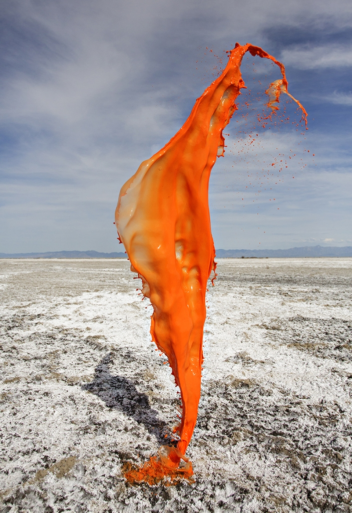 orange salt flat, © Floto+Warner